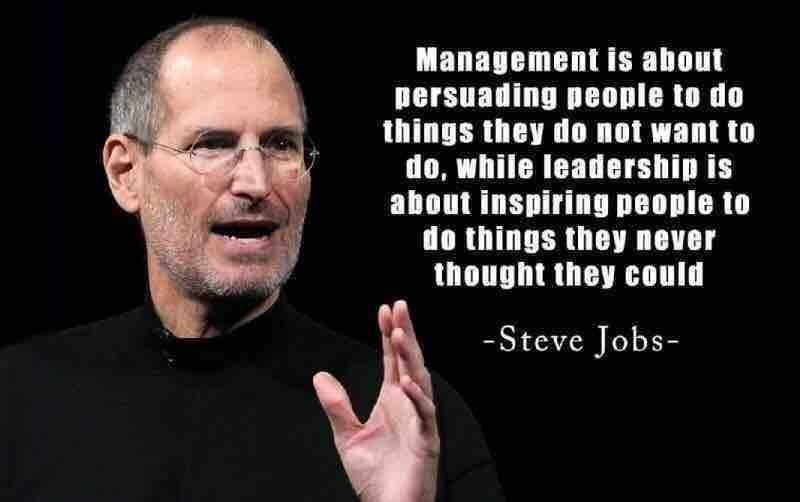Management Vs Leadership -Steve Jobs