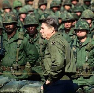 Reagan With Army